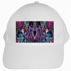 Sly Dog Modern Grunge Style Blue Pink Violet White Cap by EDDArt