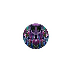 Sly Dog Modern Grunge Style Blue Pink Violet 1  Mini Magnets