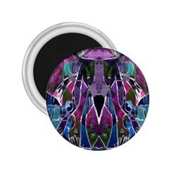 Sly Dog Modern Grunge Style Blue Pink Violet 2 25  Magnets