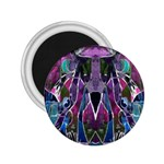 Sly Dog Modern Grunge Style Blue Pink Violet 2.25  Magnets Front