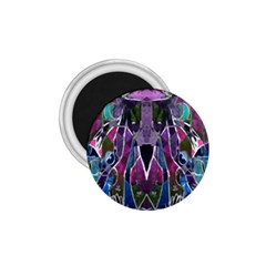 Sly Dog Modern Grunge Style Blue Pink Violet 1 75  Magnets