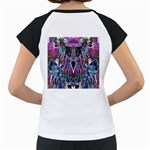 Sly Dog Modern Grunge Style Blue Pink Violet Women s Cap Sleeve T Back
