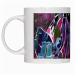 Sly Dog Modern Grunge Style Blue Pink Violet White Mugs Left