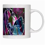 Sly Dog Modern Grunge Style Blue Pink Violet White Mugs Right