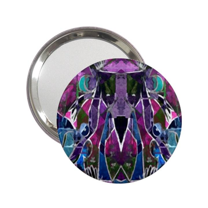 Sly Dog Modern Grunge Style Blue Pink Violet 2.25  Handbag Mirrors