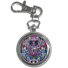 Sly Dog Modern Grunge Style Blue Pink Violet Key Chain Watches by EDDArt