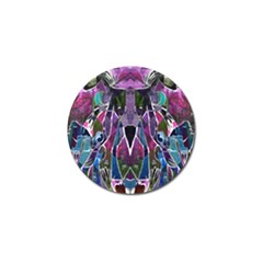 Sly Dog Modern Grunge Style Blue Pink Violet Golf Ball Marker by EDDArt