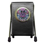 Sly Dog Modern Grunge Style Blue Pink Violet Pen Holder Desk Clocks Front