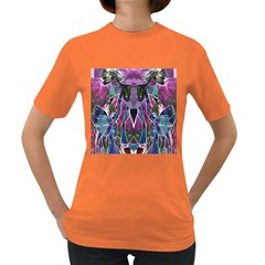 Sly Dog Modern Grunge Style Blue Pink Violet Women s Dark T Shirt by EDDArt