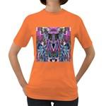 Sly Dog Modern Grunge Style Blue Pink Violet Women s Dark T-Shirt Front