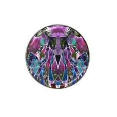 Sly Dog Modern Grunge Style Blue Pink Violet Hat Clip Ball Marker (4 Pack) by EDDArt