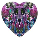 Sly Dog Modern Grunge Style Blue Pink Violet Jigsaw Puzzle (Heart)