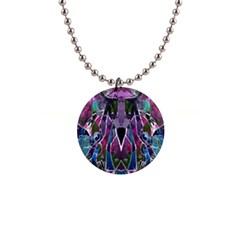 Sly Dog Modern Grunge Style Blue Pink Violet Button Necklaces by EDDArt