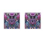Sly Dog Modern Grunge Style Blue Pink Violet Cufflinks (Square)
