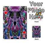 Sly Dog Modern Grunge Style Blue Pink Violet Playing Cards 54 Designs  Front - Heart3