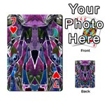 Sly Dog Modern Grunge Style Blue Pink Violet Playing Cards 54 Designs  Front - Heart7