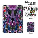 Sly Dog Modern Grunge Style Blue Pink Violet Playing Cards 54 Designs  Front - DiamondJ