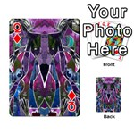 Sly Dog Modern Grunge Style Blue Pink Violet Playing Cards 54 Designs  Front - DiamondQ
