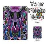 Sly Dog Modern Grunge Style Blue Pink Violet Playing Cards 54 Designs  Front - Spade7