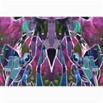 Sly Dog Modern Grunge Style Blue Pink Violet Collage Prints 18 x12 Print - 4