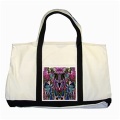 Sly Dog Modern Grunge Style Blue Pink Violet Two Tone Tote Bag