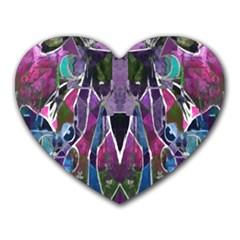 Sly Dog Modern Grunge Style Blue Pink Violet Heart Mousepads