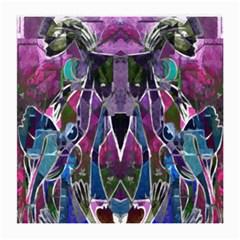 Sly Dog Modern Grunge Style Blue Pink Violet Medium Glasses Cloth by EDDArt