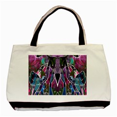 Sly Dog Modern Grunge Style Blue Pink Violet Basic Tote Bag (two Sides) by EDDArt