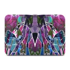 Sly Dog Modern Grunge Style Blue Pink Violet Plate Mats