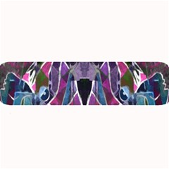 Sly Dog Modern Grunge Style Blue Pink Violet Large Bar Mats