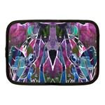 Sly Dog Modern Grunge Style Blue Pink Violet Netbook Case (Medium)  Front