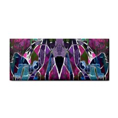 Sly Dog Modern Grunge Style Blue Pink Violet Hand Towel by EDDArt