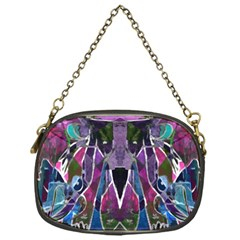 Sly Dog Modern Grunge Style Blue Pink Violet Chain Purses (one Side)  by EDDArt