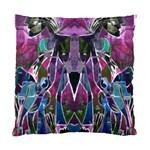 Sly Dog Modern Grunge Style Blue Pink Violet Standard Cushion Case (Two Sides) Back