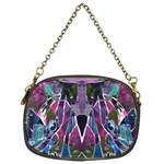 Sly Dog Modern Grunge Style Blue Pink Violet Chain Purses (Two Sides)