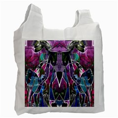 Sly Dog Modern Grunge Style Blue Pink Violet Recycle Bag (two Side)  by EDDArt