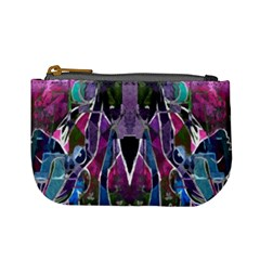 Sly Dog Modern Grunge Style Blue Pink Violet Mini Coin Purses by EDDArt