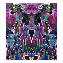 Sly Dog Modern Grunge Style Blue Pink Violet Shower Curtain 66  X 72  (large)  by EDDArt