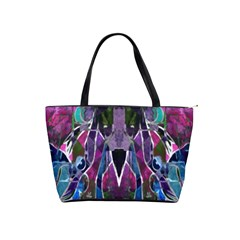 Sly Dog Modern Grunge Style Blue Pink Violet Shoulder Handbags by EDDArt