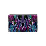 Sly Dog Modern Grunge Style Blue Pink Violet Cosmetic Bag (Small)  Front