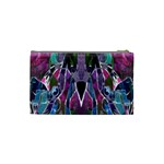 Sly Dog Modern Grunge Style Blue Pink Violet Cosmetic Bag (Small)  Back