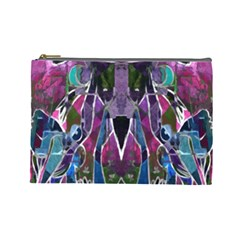 Sly Dog Modern Grunge Style Blue Pink Violet Cosmetic Bag (large)