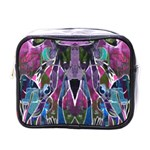 Sly Dog Modern Grunge Style Blue Pink Violet Mini Toiletries Bags