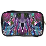 Sly Dog Modern Grunge Style Blue Pink Violet Toiletries Bags 2-Side Front