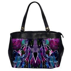 Sly Dog Modern Grunge Style Blue Pink Violet Office Handbags by EDDArt