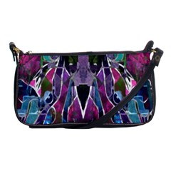 Sly Dog Modern Grunge Style Blue Pink Violet Shoulder Clutch Bags by EDDArt