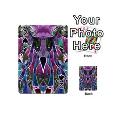 Sly Dog Modern Grunge Style Blue Pink Violet Playing Cards 54 (mini)  by EDDArt