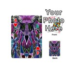 Sly Dog Modern Grunge Style Blue Pink Violet Playing Cards 54 (Mini)  Front - Heart4
