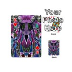 Sly Dog Modern Grunge Style Blue Pink Violet Playing Cards 54 (Mini)  Front - Heart6