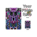 Sly Dog Modern Grunge Style Blue Pink Violet Playing Cards 54 (Mini)  Back